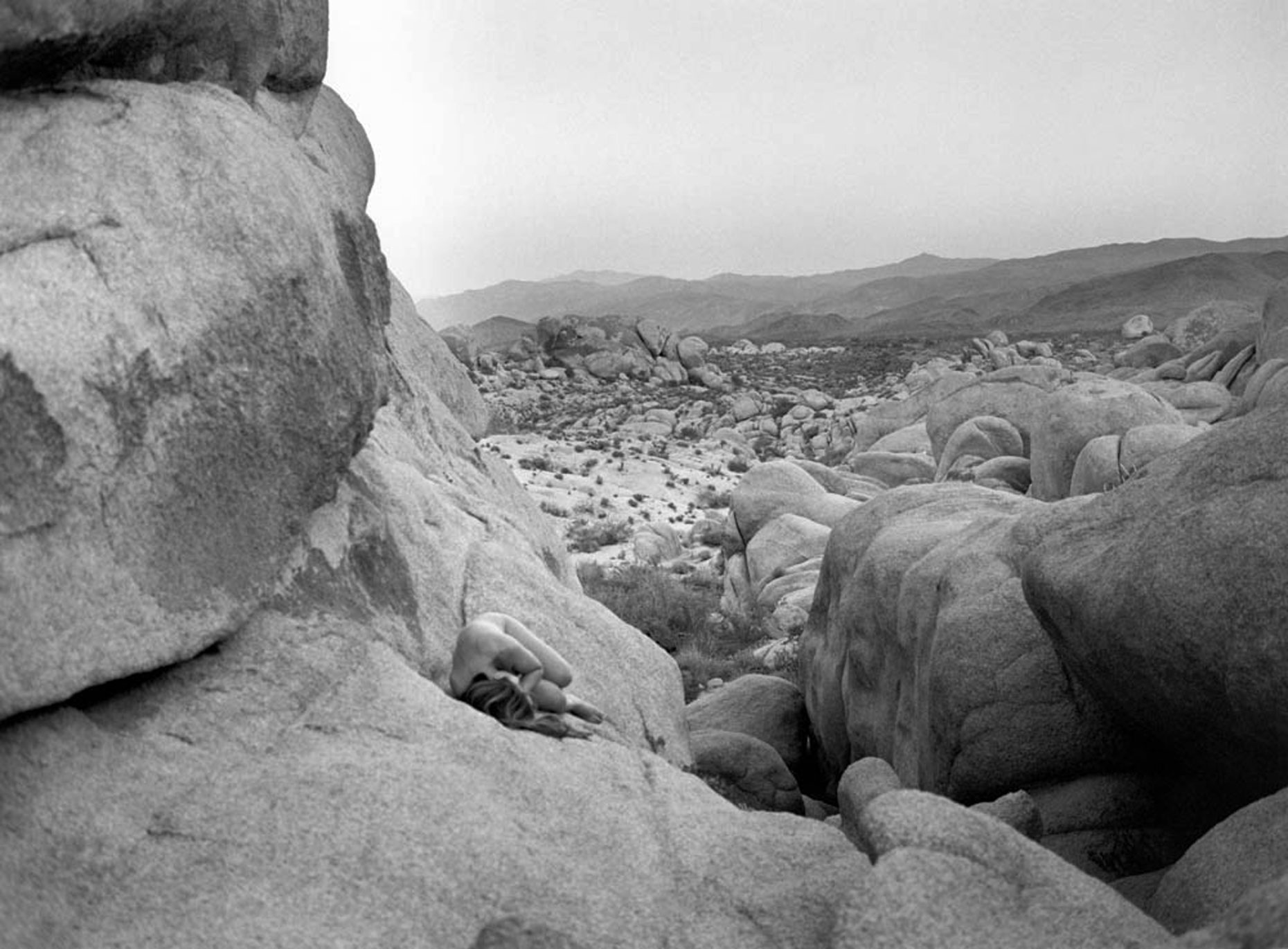 Self portrait in Joshua Tree by Francie Wong.